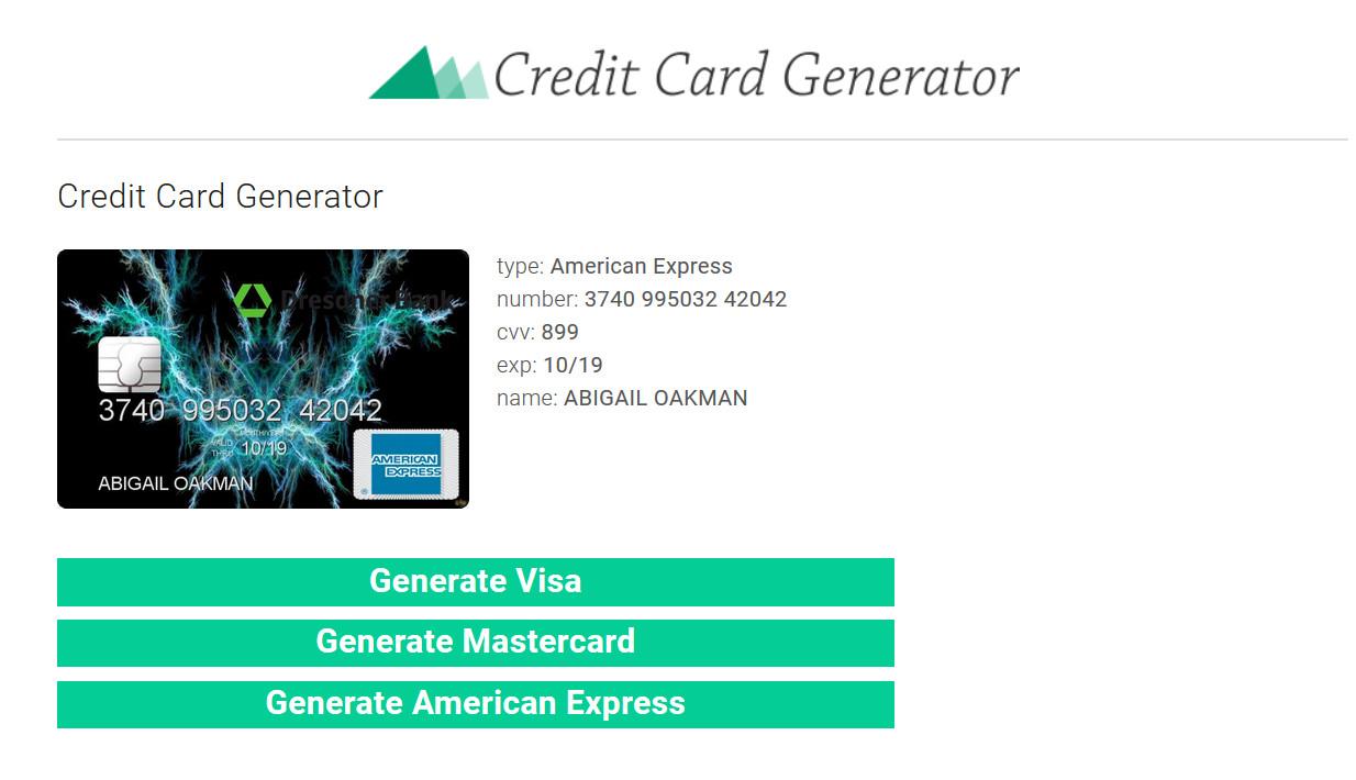 信用卡卡号生成器及验证器